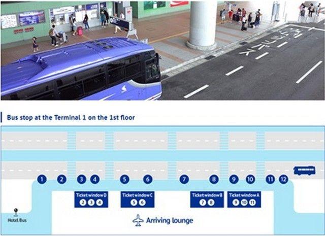 terminal 1 bus limusine stop kansai