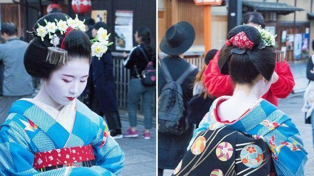 geishas y maikos en gion kioto