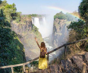 las cataratas victoria desde el lado de zimbawe