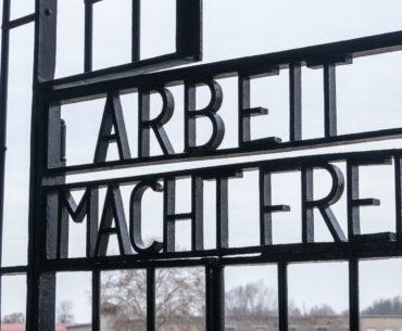 campo de concentracion de Sachsenhausen entrada