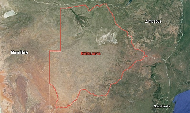mapa botswana delta del okavango