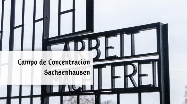 portada campo de concentración Sachsenhausen