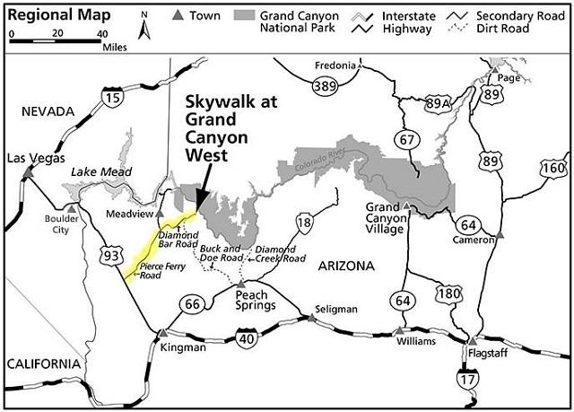 gran canyon west como llegar