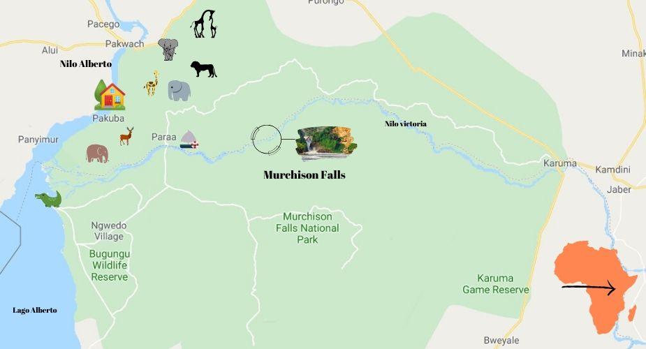 Murchison-Falls-mapa