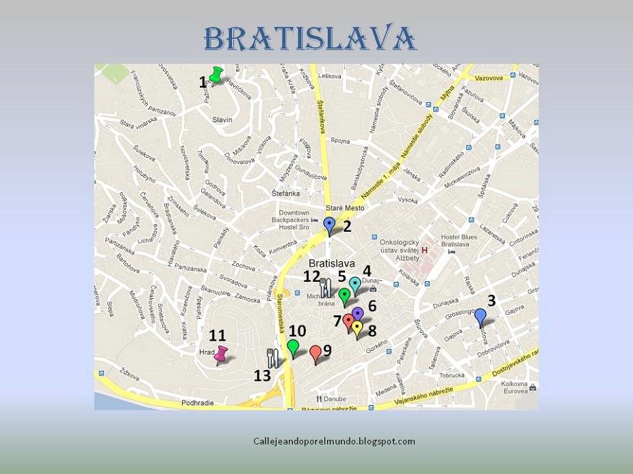 Mis Planos De Bratislava Callejeando Por El Mundo