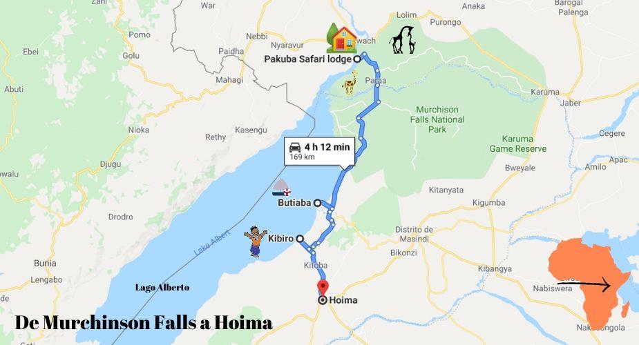 de-murchinson-falls-a-hoima-mapa
