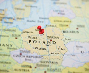 mapa de polonia en navidad portada