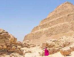 Saqqara desde El Cairo (con Menfis)